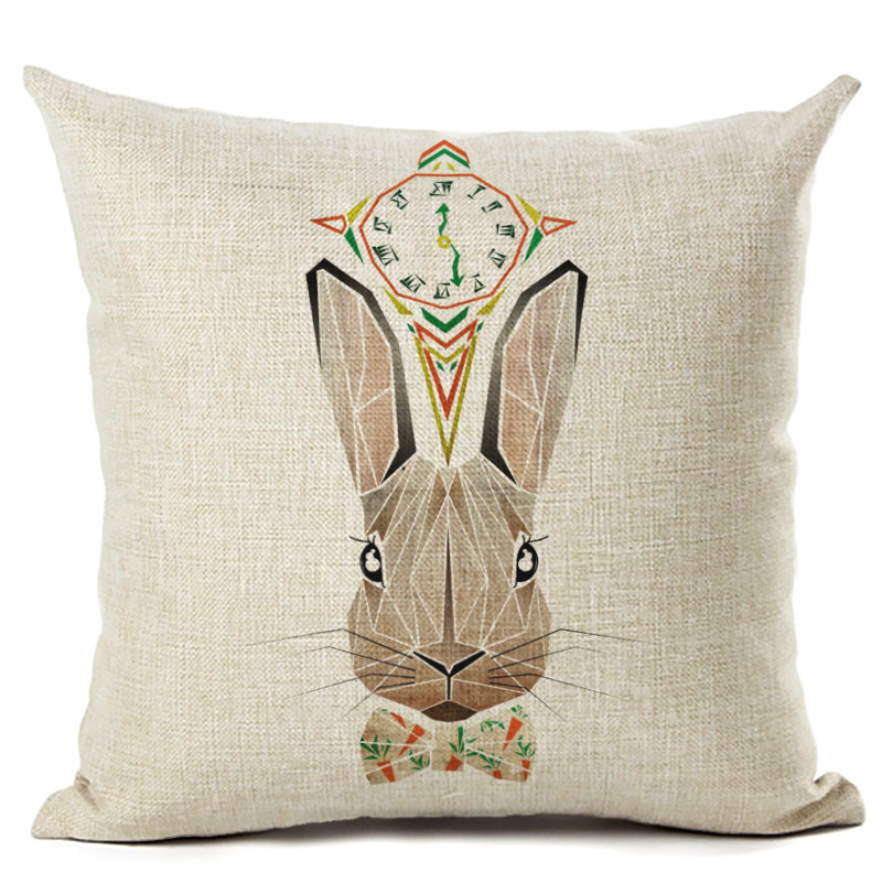 Cushion Cover Pillow Case Cute Rabbit Throw Pillowcase Car Seat Sofa Decorative Pillow Cover 450x450mm F