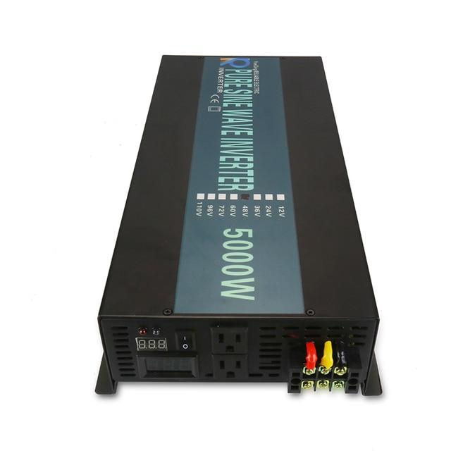 Hot Sale 5000W Solar Power Inverter 24V to 220V Pure Sine Wave Inverter 12V/24V/48V/72V DC to 120V/230V/240V AC Remote Control 2