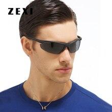 Фотография Classic Men Outdoor Sports Sunglasses Polarized Fishing Glasses Rimless Driving Sun Glasses Men Luxury Brand Sunglases 8143