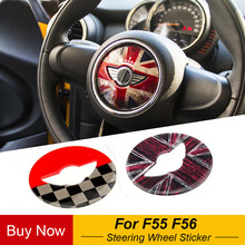 Union Jack Steering Wheel Center Sticker Decals Cover Case for BMW MINI Cooper JCW F55 F56