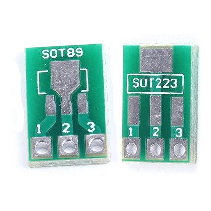 20 шт./лот SOT89 SOT223 для DIP PCB плата для переноса DIP Pin плата шаг адаптер keysets в наличии