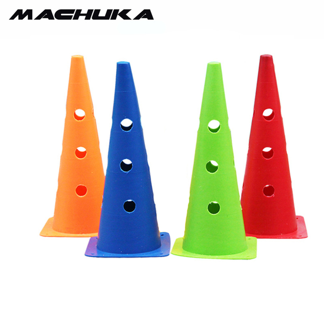 e109ab955 MACHUKA 1pc 48CM Soccer Marker Cones Football Training Sports Entertainment  Traffic flag barrel obstacle training football Discs