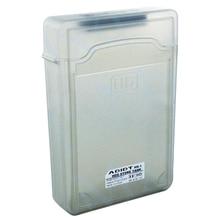 5pcs 3.5″ IDE SATA HDD Hard Drive Disk Plastic Storage Box Case Enclosure Cover Gray