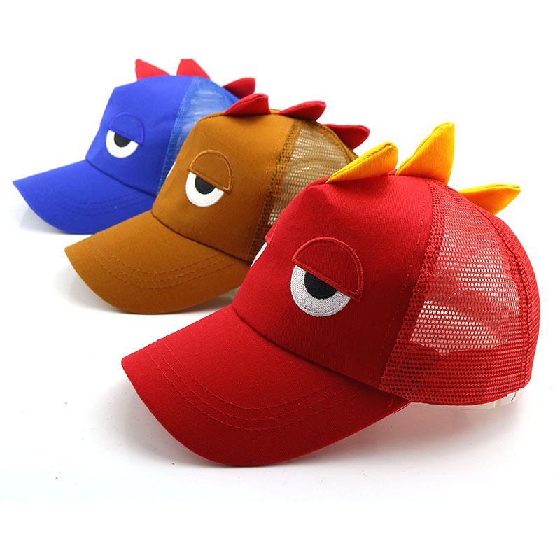 Cotton Cartoon dinosaur breathable   Baseball     Cap   Adjustable Snapback Hats for children boys and girls 101