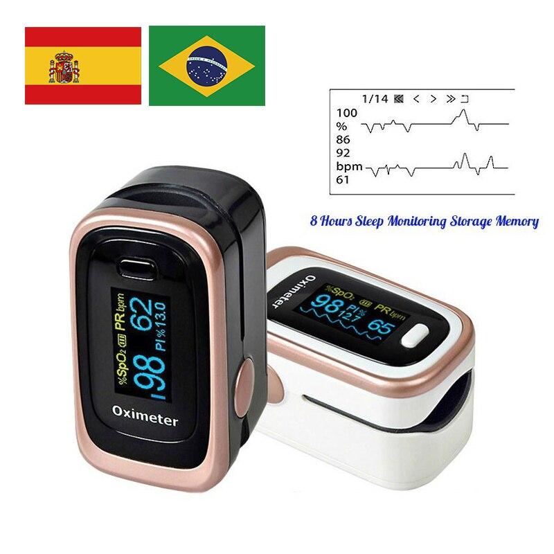 Household portable finger pulse oximeter PI sleep monitoring