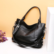 European and American style new lychee pattern First layer cowhide designer women leather handbags high quality bag