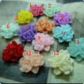 17mm Resin Flower Cameo pendants,mix colors Resin Flower,resin Flower vintage pendants,DIY resin beads Craft jewelry