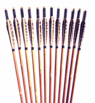 6/12/24PK eagle feather arrow bamboo genuine hand arrow bamboo recurve archery bow - DISCOUNT ITEM  10% OFF Sports & Entertainment