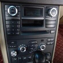 Украшение интерьера автомобиля Acc кондиционер вентилятор Кнопка Аудио Стерео регулятор громкости Ручка кольцо Крышка Комплект для Volvo XC90 2009