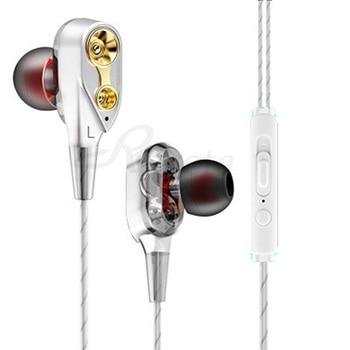 Dual drive Στερεοφωνικά ενσύρματα ακουστικά in-ear
