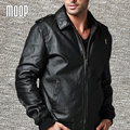 Black genuine leather jacket coats men pigskin casual motorcycle jacket chaqueta moto hombre veste cuir homme cappotto LT048