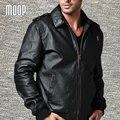 Capas de la chaqueta de los hombres de piel de cerdo de cuero genuino negro chaqueta moto chaqueta de la motocicleta ocasional hombre veste cuir homme cappotto lt048