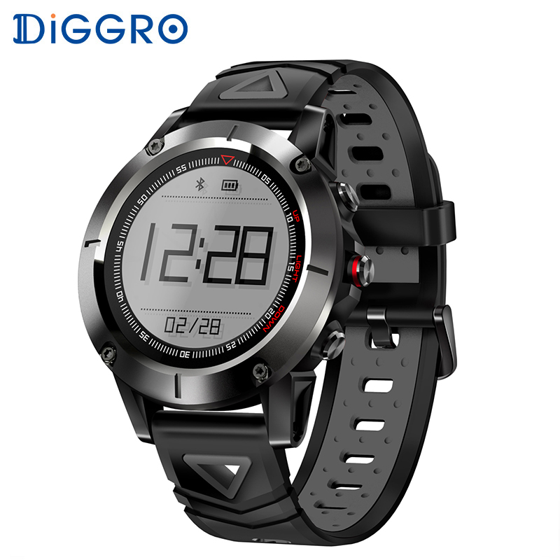 Diggro G01 GPS Smart Watch IP68 Swimming Waterproof 1.05 inch Bluetooth Stopwatch Anti-lost Heart Rate Monitor for Android IOS diggro di10 smart sport watch ip68 waterproof pedomete long standby time bluetooth 4 0 smart 1 21 inch watch for ios android