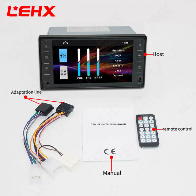 LEHX car radio mp5 player 7 inch 2din USB MP3 MP4 MP5 For Toyota  Camry/Vios/Corolla/wish/Altis/Support mirror link Android 8 0