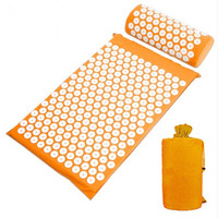 With Carry Bag Acupressure Mat And Pillow Massage Cushion Acupressure Mat Relieve Stress Pain Acupuncture Spike