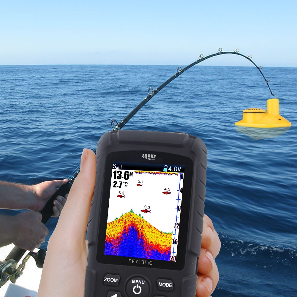 Sonar New Arrival Finder Wireless Fishfinder New Watch Type147 Feet(45m) Range Protable Fishing Sounder English Russian Menu wireless watch type mini sonar fish finder wireless fishfinder 180feet 60m range echo outdoor lake fishing sounder for gift