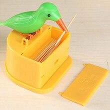 Милый Колибри Диспенсер Для Зубочисток кляп подарок чистка зубов высокое качество материал автоматическая коробка для зубочистки птиц Новинка