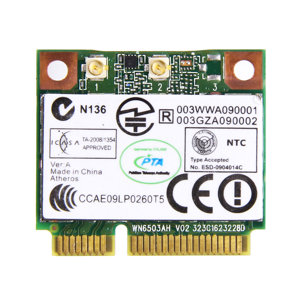 ATHEROS AR5BHB116 AR9382 Dual band 300M WIRELESS-N Laptop WIFI MINI PCI-e Card