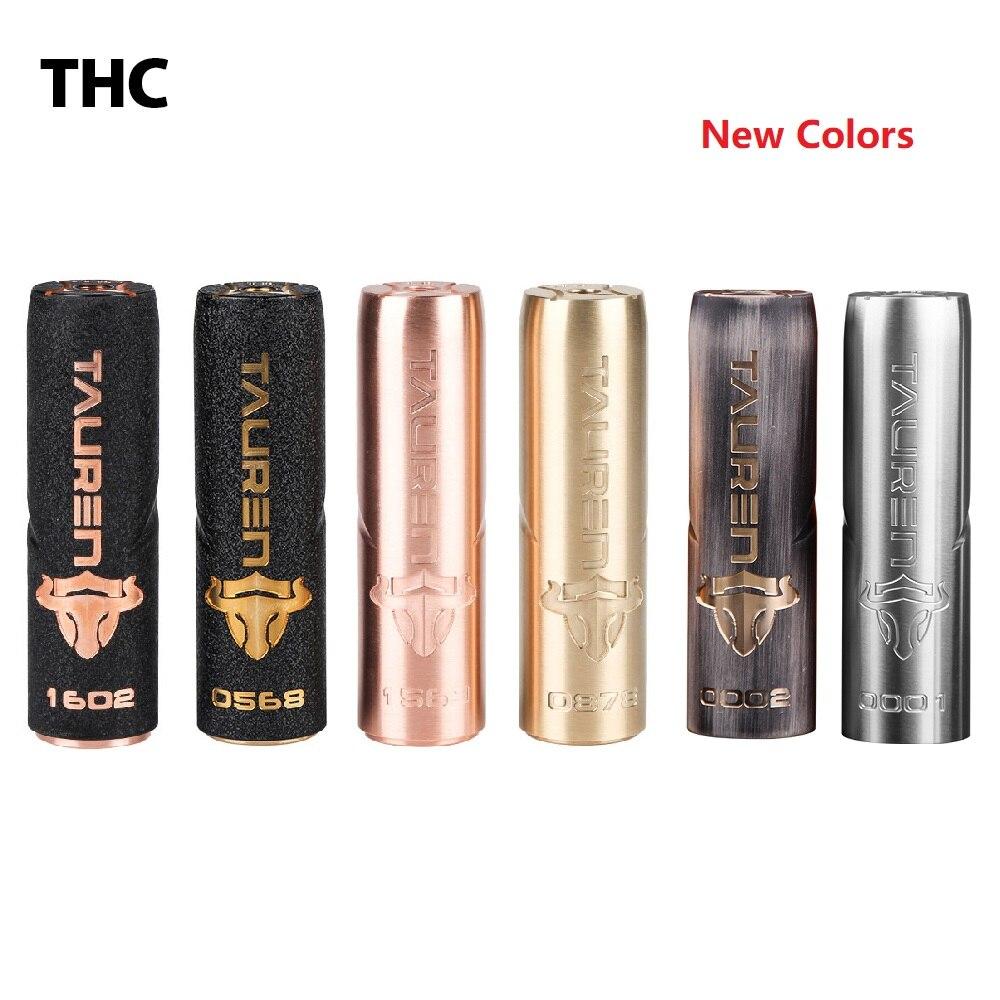 New Electronic Cigarette Mech mod Original THC Tauren Mech Mod support single 18650 20700 21700 Vape