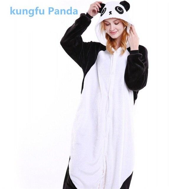 85f85e1032 Kungfu Panda Flanela Inverno Animal Dos Desenhos Animados Pijamas Pijama  Adulto Unisex Kigurumi Pijamas Animal Pijama