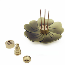 New Sakura Incense Burner Copper Alloy Cherry Gourd Stove Teahouse Ornament Buddha Supplies Coil Stick Holders