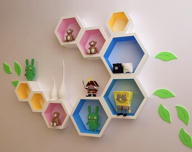 Creative plaid TV background wall paint decorative storage partition ...