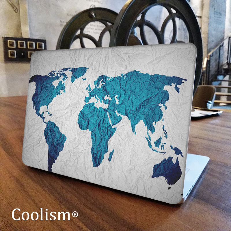 Fold mark world map laptop decal for macbook sticker pro air retina fold mark world map laptop decal for macbook sticker pro air retina 11 12 13 15 inch mac hp protective notebook full cover skin in laptop skins from gumiabroncs Gallery