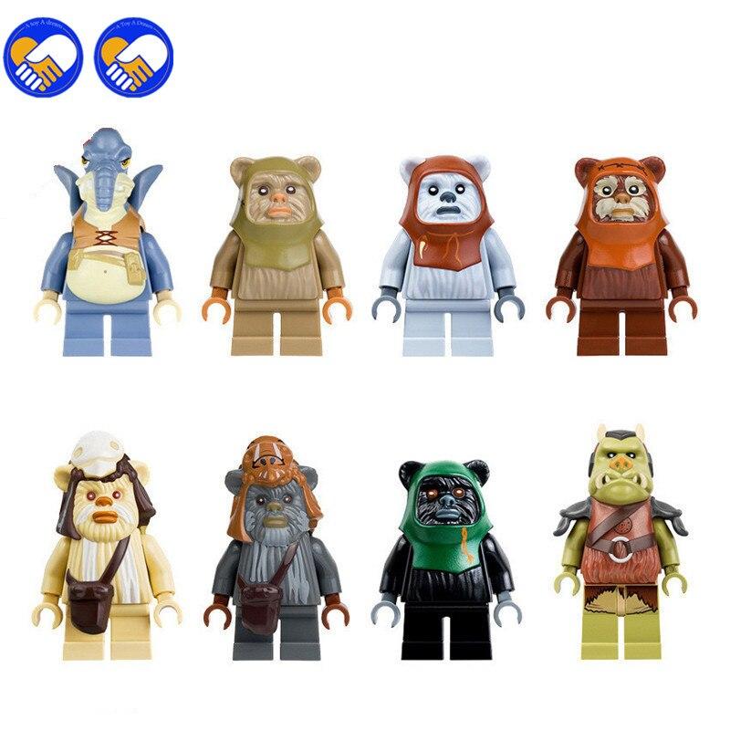 Lego Star Wars Battles 0 30 Apk: 8PCS Logray Paploo Tan Ewok Tokkat Battle Of Endor Set
