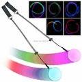 Envío Gratis 1 par de Cambiar Los Colores de LED Poi Lanzado Balls para Profesionales de Danza Del Vientre Accesorios de Mano LED para dancing party