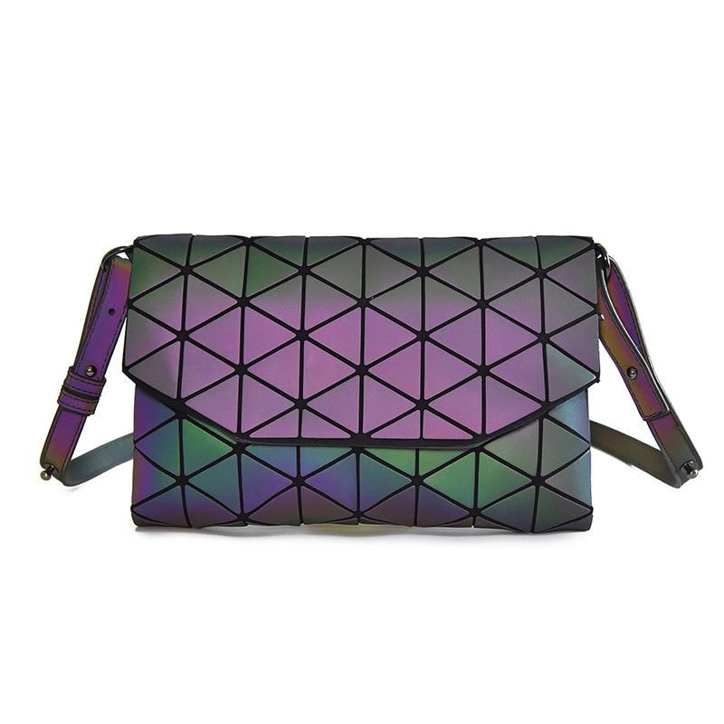 Hot Sale Luminous Geometric Women Handbags Clutch Female Purses Small Shoulder Crossbody Bag Women Messenger Bag