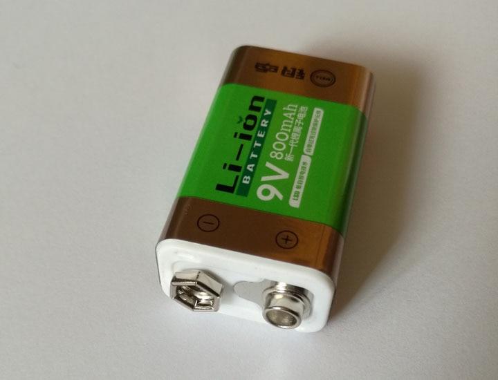 1PCS 800 mAh SUPER BIG 9 v li-ion lithium 9 Volt Batterie Hersteller garantie