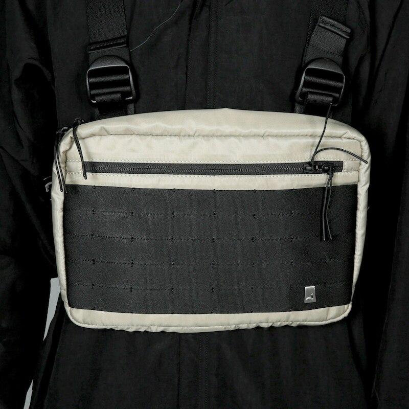 2019 sac de poitrine Hip Hop Streetwear fonctionnel sac de poitrine tactique sac à bandoulière croix Kanye West 2019 nouveau sac de taille de mode