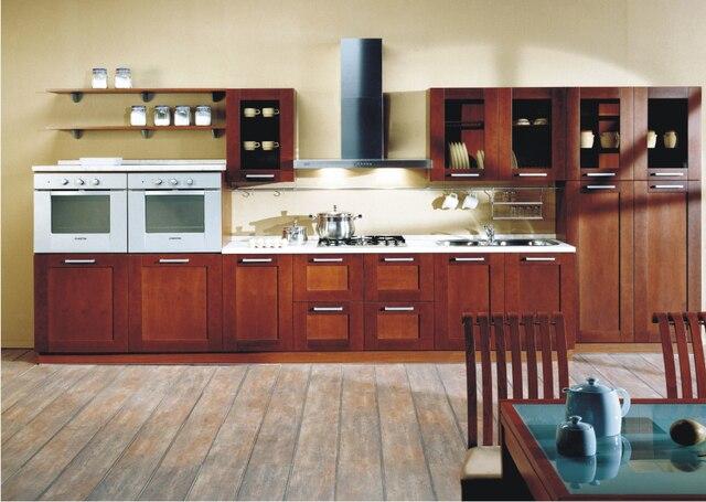 2017 diseño libre personalizado muebles para cocina madera maciza ...