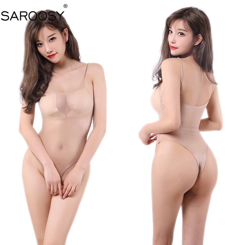 SAROOSY New Fragrance Sheer Invisible Seamless Silk Top Lingerie Tops Intimate Wear Underwear For Women High Cut Crop Bodysuit