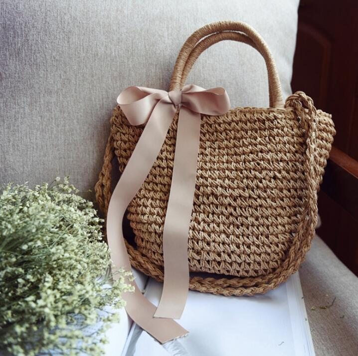 e6335fe57e ANAWISHARE Straw Women Handbags Large Shoulder Bags Girls Casual Tote Bags  Female Summer Beach Handbags Bolsa Feminina-in Shoulder Bags from Luggage    Bags ...