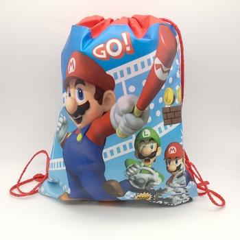 Bolsas de regalo rojas con diseño de Super Mario, bolsas de regalo...