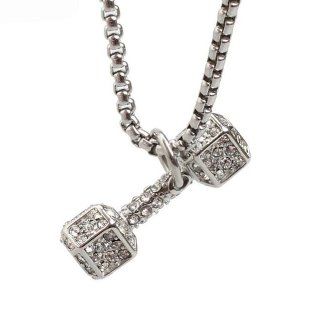 on fashion p necklace photo unisex carousell dumbbell s jewellery women