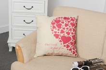 Red half a heart home Textile Romantic Pillowcases For Home Pillow Case/Cover Valentine's Day Gift NB024