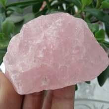 1 шт., 50 г, натуральные необработанные розовые кварцевые кристаллы (необработанные с лечебным действием, образцы, рейки, Love Stone)