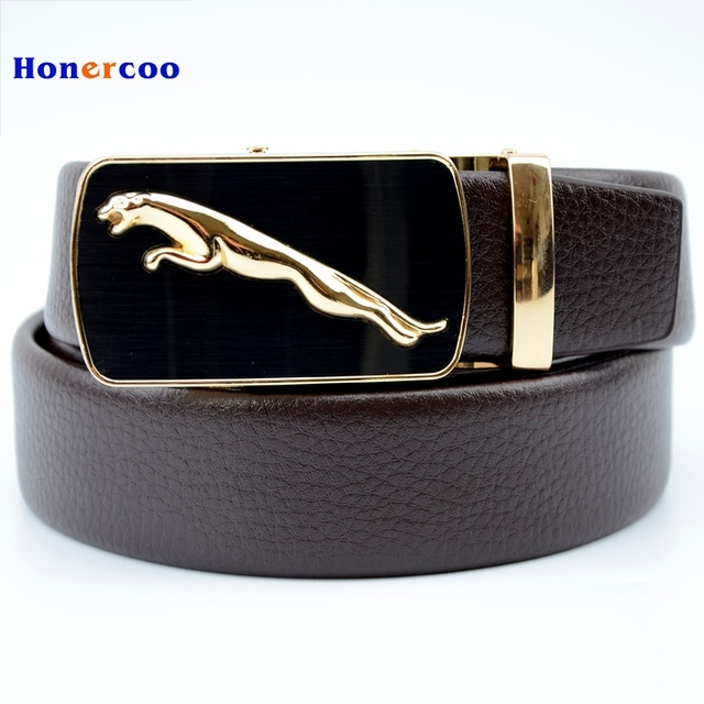 2cd79c29d6d HONERCOO 100% cowhide genuine leather belts for men brand Strap male buckle  fancy vintage jeans