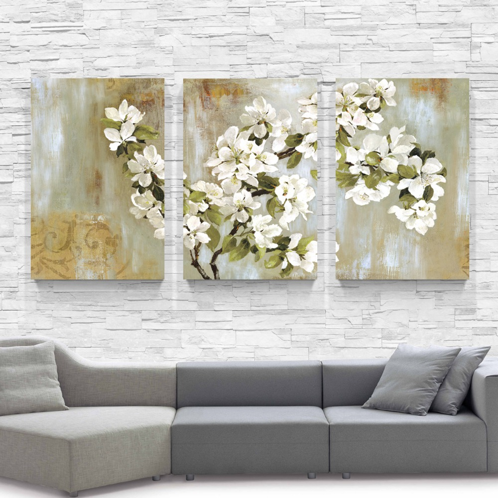 ᗕThe Apple Blossom Wall Painting Flower Home Decor Canvas Paintings ...
