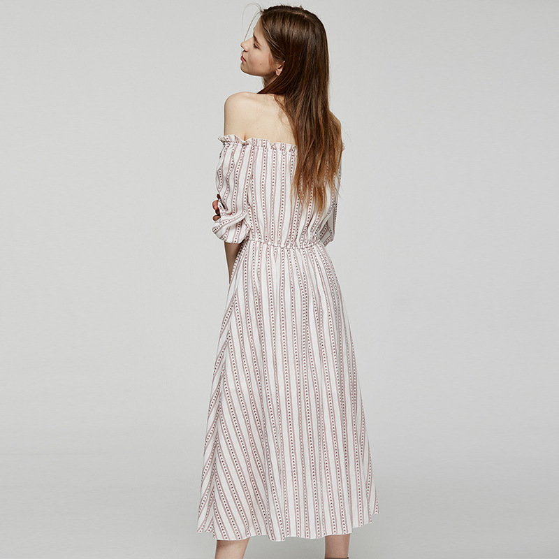 MUXU bohemian dress striped sukienka patchwork vestidos kleider fashion clothes streetwear vetements vestiti boho long dress in Dresses from Women 39 s Clothing