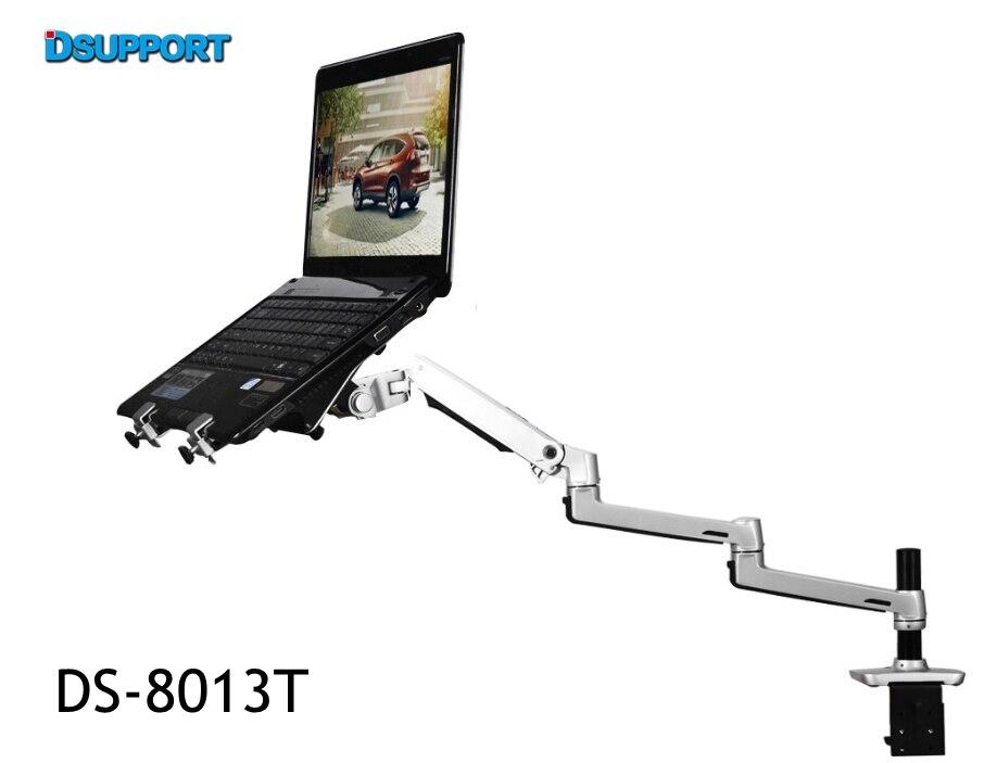 цена 8013T Aluminum Alloy Desktop Mount Ultra-long Arm Dual-use Laptop Desk / Monitor Holder Mount Arm Full Motion Notebook Bracket