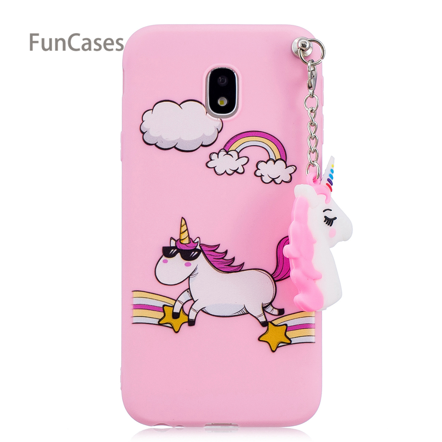 3D Unicorn Phone Case sFor Capa Samsung J730 European Version Soft TPU Telefon Phone Case Samsung Galaxy J7 2017 EU Version