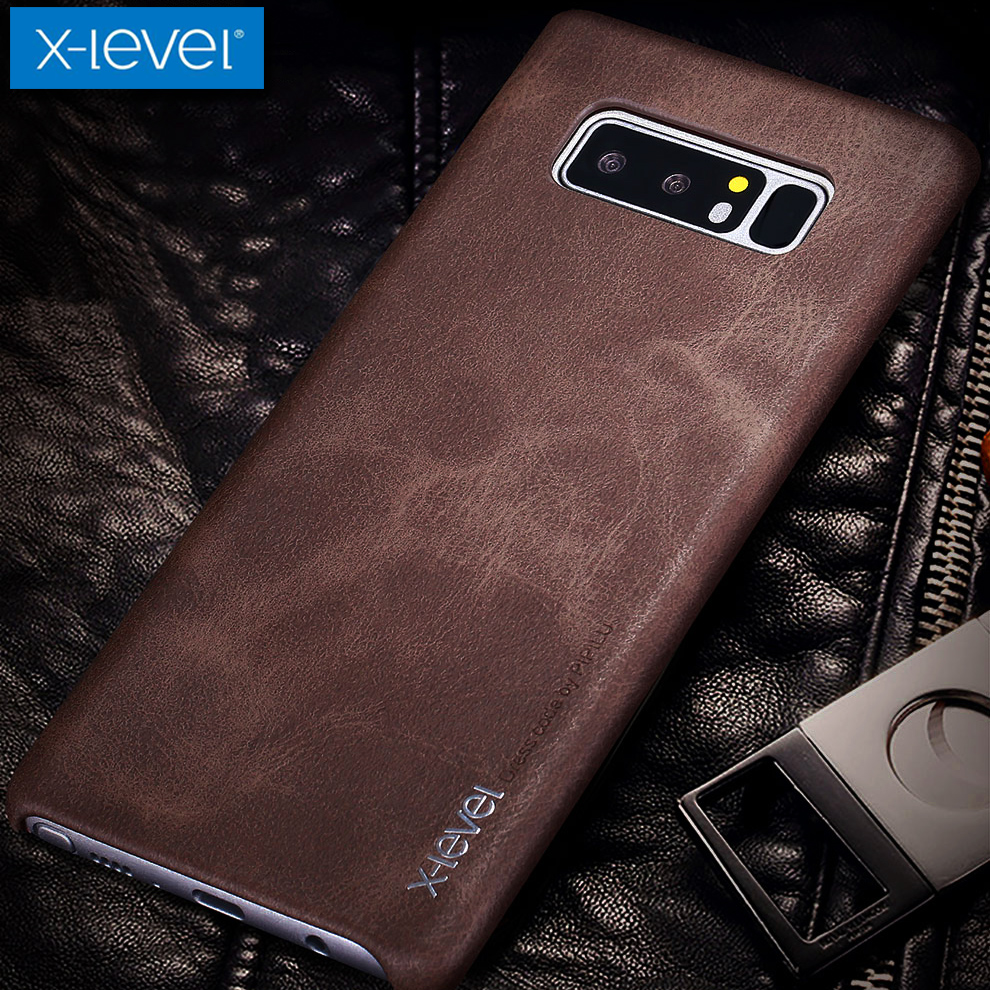 for Samsung Note 8 Case X-Level Vintage Cowboy Luxury Leather Phone Back  Protective Shell Cover for Samsung Galaxy Note 8 Note8 0dd27743de63