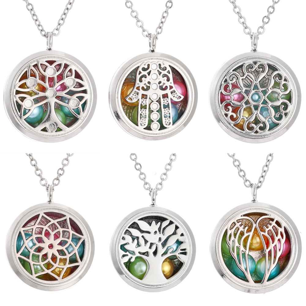 2018 Hot Aroma Diffuser Locket Stainless Steel  Necklace Pendant Spider