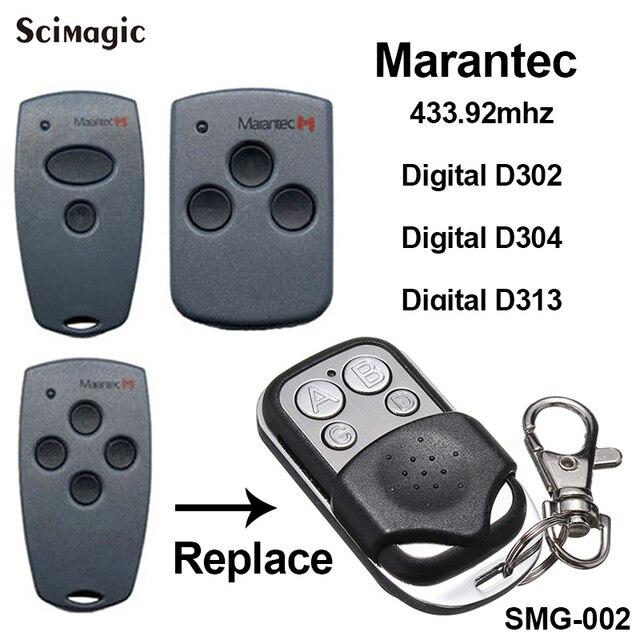 Marantec Digital 302 Marantec Digital 304 תואם שלט רחוק 433.92MHz Marantec מוסך שער פותחן