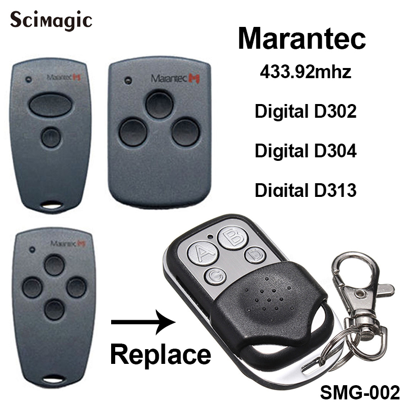 Marantec Digital 302 Marantec Digital 304 Compatible Remote Control 433.92MHz Marantec Garage Gate Opener