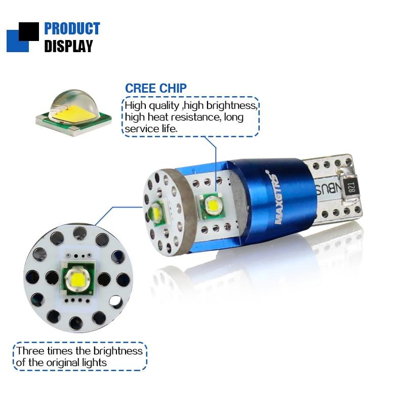 2x T10 W5W 15W Cree Chip XP-E CANBUS БЕЗ ОШИБКИ Белый - Автомобильные фары - Фотография 2