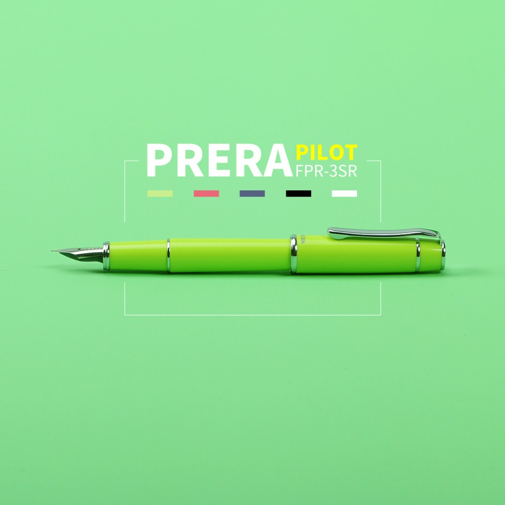 Pilot Prera Fountain Pen with Con40 Ink Converter F /M Tip Calligraphy Pen Writing Supplies School & Office Pen FPR-3SR 2018 pilot prera fountain pen with con40 ink converter f m tip calligraphy pen writing supplies school